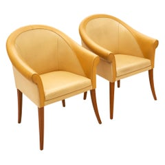 Leather Poltrona Frau Armchairs