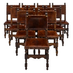 Leather Renaissance Style Dining Chairs