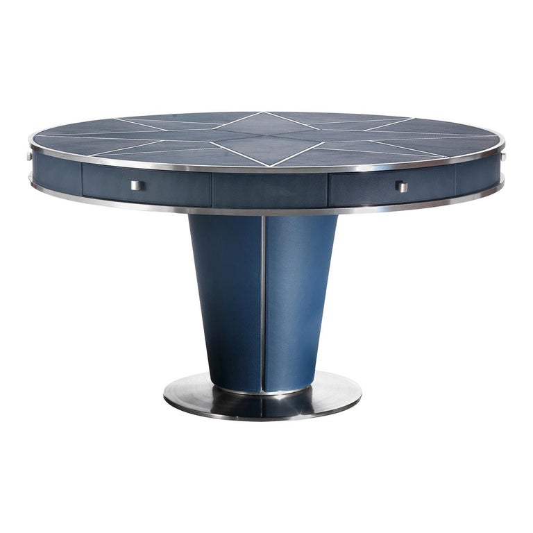 Leather Round Dining Table For Sale