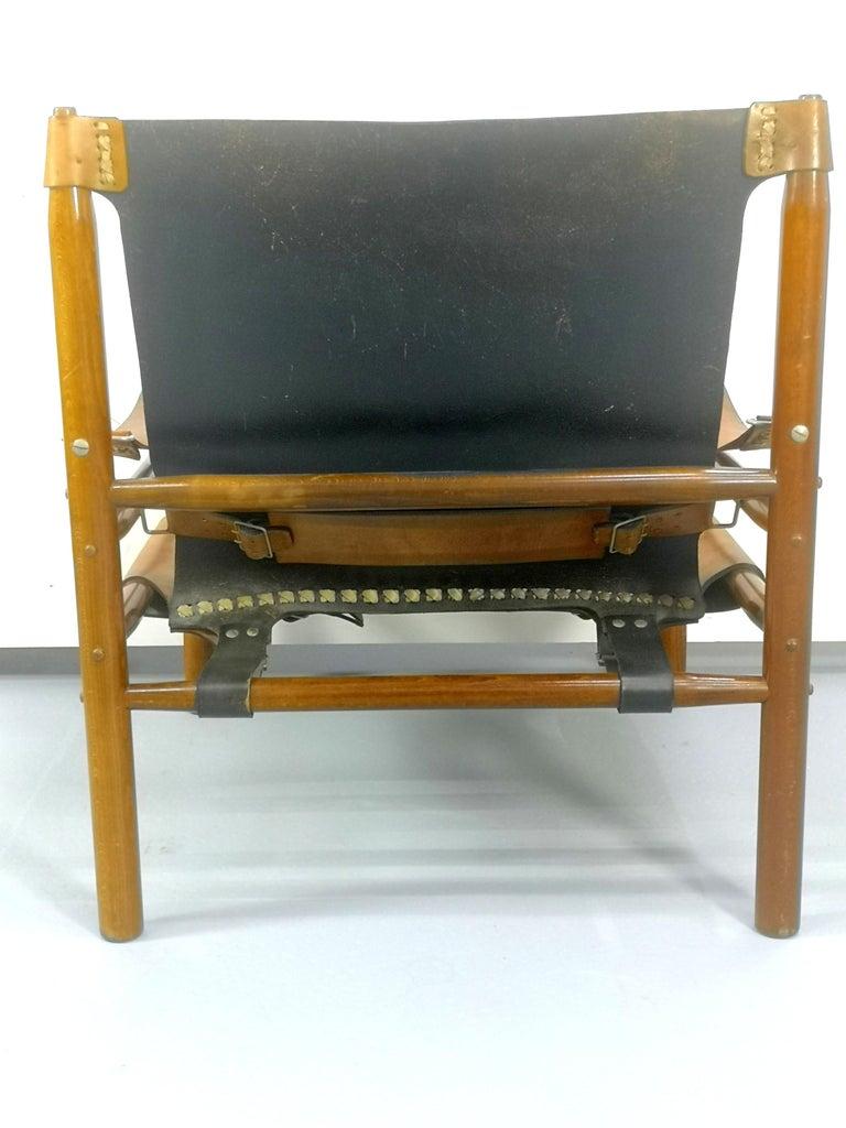 Leather Safari Armchair, 1970s For Sale 5