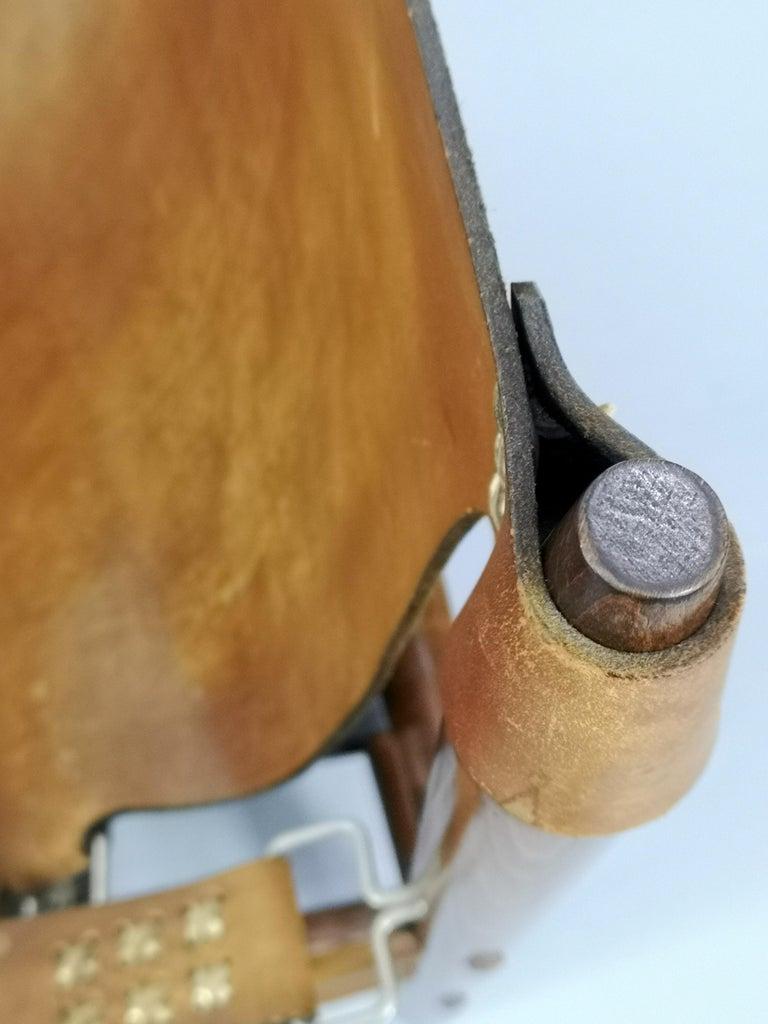 Leather Safari Armchair, 1970s For Sale 6