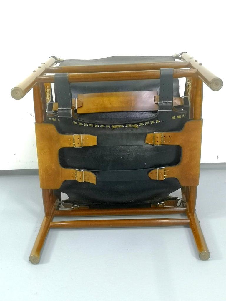 Leather Safari Armchair, 1970s For Sale 7