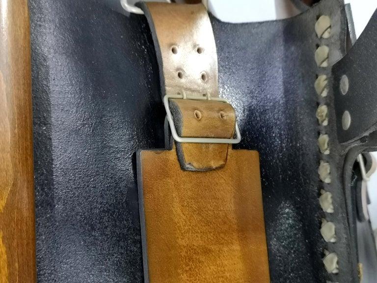 Leather Safari Armchair, 1970s For Sale 8