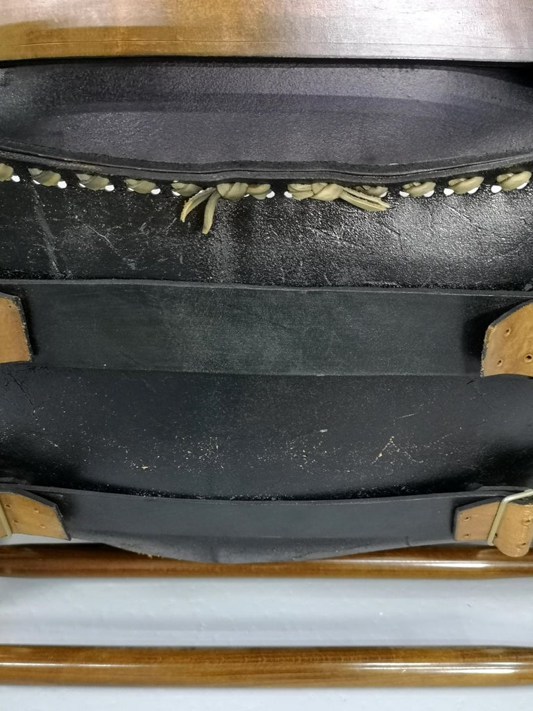 Leather Safari Armchair, 1970s For Sale 1