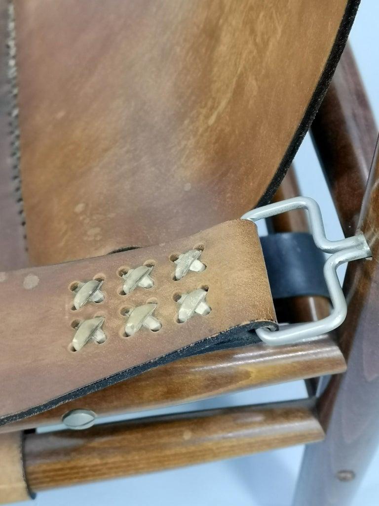 Leather Safari Armchair, 1970s For Sale 3