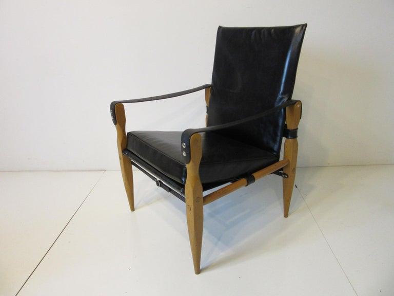 Swiss Leather Safari Chairs by Wilhelm Kienzle For Sale
