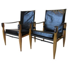Leather Safari Chairs by Wilhelm Kienzle