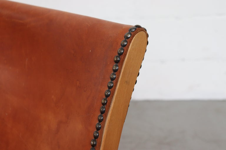 Leather Safari Style Lounge Chair For Sale 2