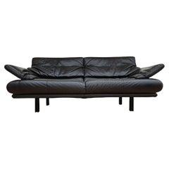 """Leather Sofa """"Alanda"""" by Paolo Piva for B&B Italia / C&B Italia, 1980s"""