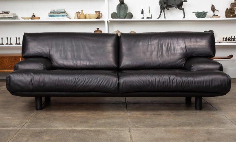 Post-Modern Leather Sofa by Brayton International