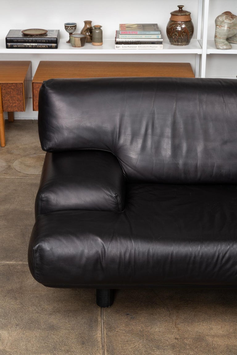 Leather Sofa by Brayton International In Excellent Condition In Los Angeles, CA