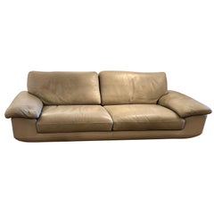 Leather Sofa by Roche Bobois