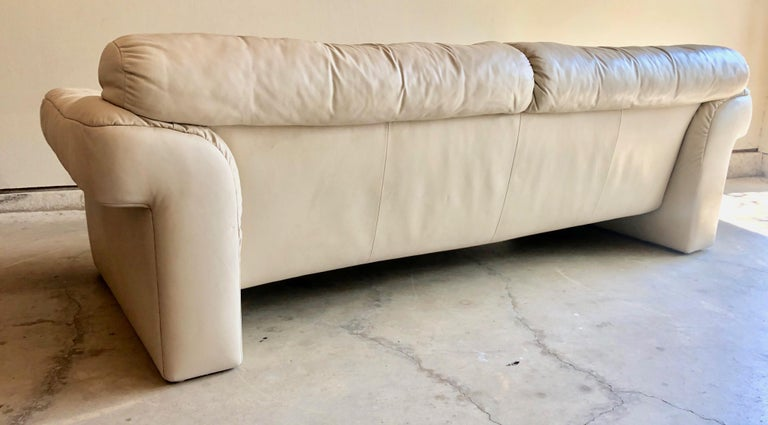 Modern Leather Sofa by WK Möbel For Sale