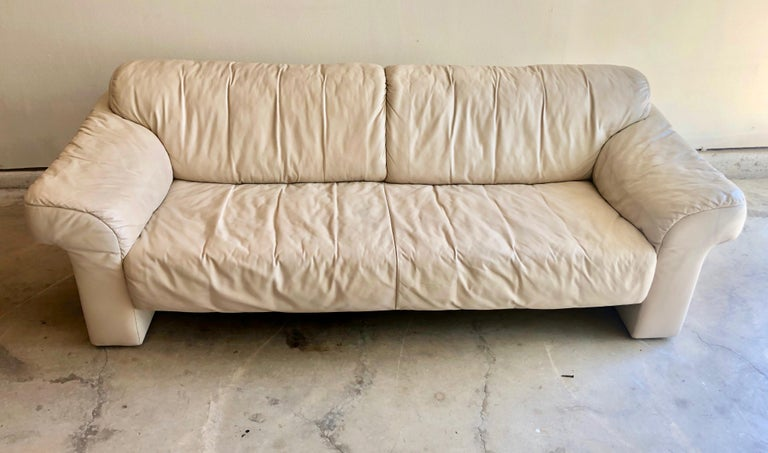 20th Century Leather Sofa by WK Möbel For Sale