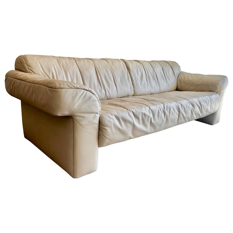 Leather Sofa by WK Möbel For Sale