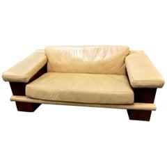 Leather Sofa, circa 1980s