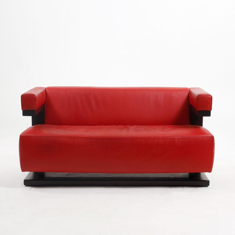 Bauhaus Leather Sofa F51-2 by Walter Gropius for Tecta For Sale