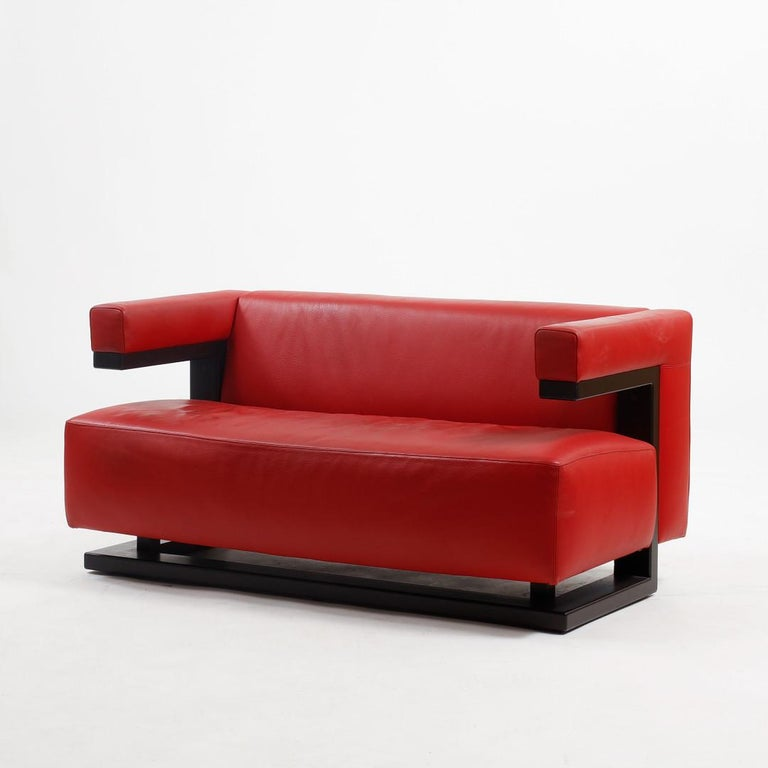 German Leather Sofa F51-2 by Walter Gropius for Tecta For Sale