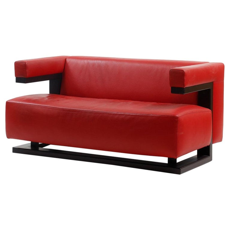 Leather Sofa F51-2 by Walter Gropius for Tecta For Sale
