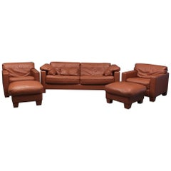 Leather Sofa Set by De Sede