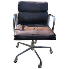 Leather Soft Pad Desk Chair by Charles Eames, Mfg. Herman Miller