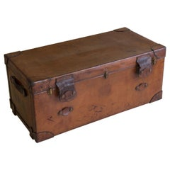 Leather Steamer Trunk by Finnigans, circa 1920