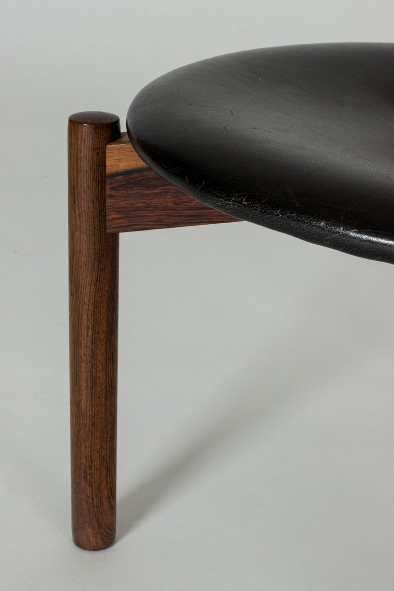 Leather Stool by Uno & Östen Kristiansson For Sale 1