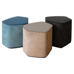 Leather Stools by Nestor Perkal