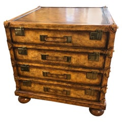 Leather Suitcase Style Chest of Drawers