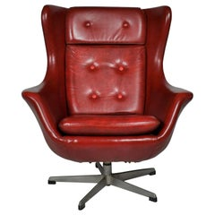 Leather Swivel Armchair, 1965s from UP Závody