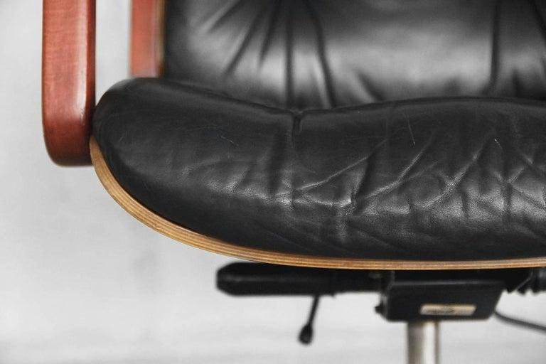 Astonishing Leather Swivel Office Chair By Gordon Russel For Giroflex Machost Co Dining Chair Design Ideas Machostcouk