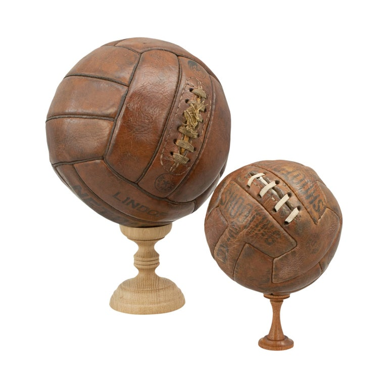 Vintage T pattern leather football.