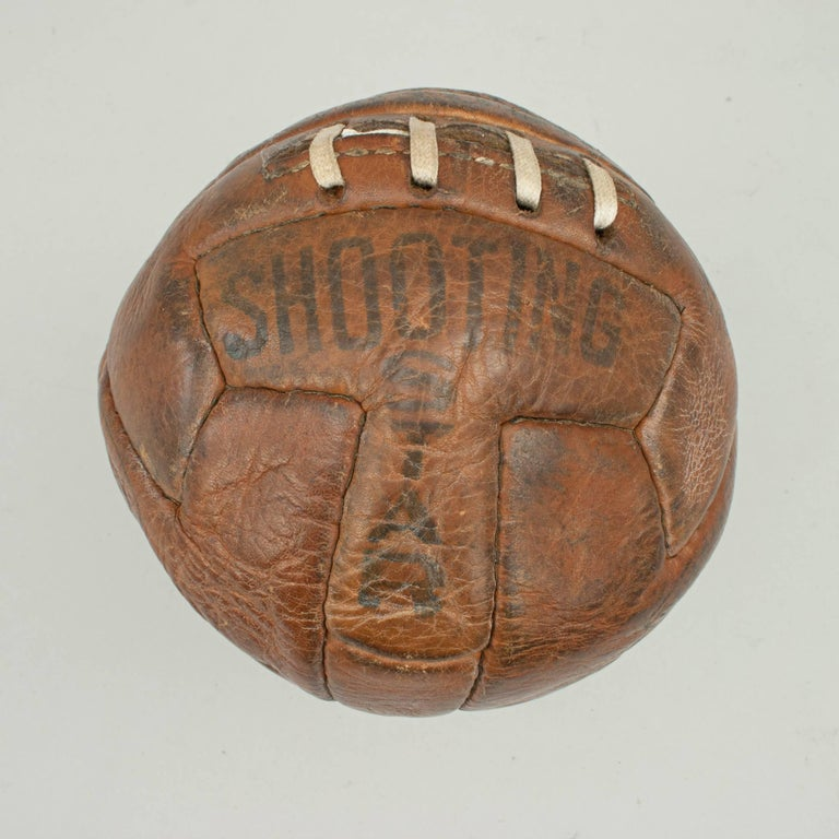 Leather T Pattern Miniature Football In Good Condition For Sale In Oxfordshire, GB