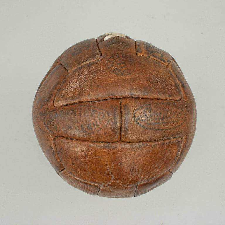 Mid-20th Century Leather T Pattern Miniature Football For Sale