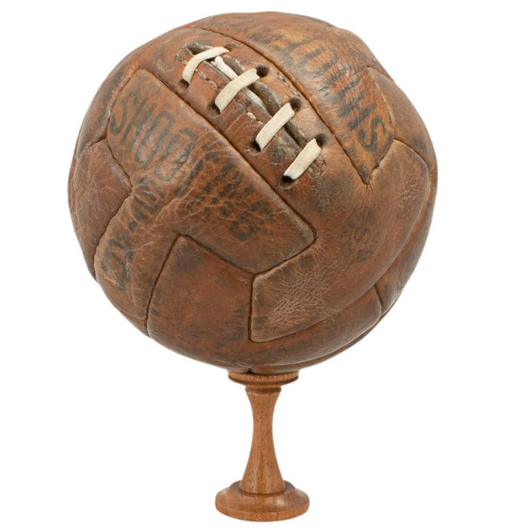 Leather T Pattern Miniature Football For Sale