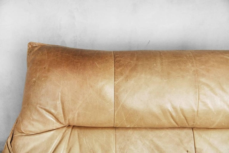 Leather the Rock Sofa by Gerard Van Den Berg for Montis, 1970s For Sale 7