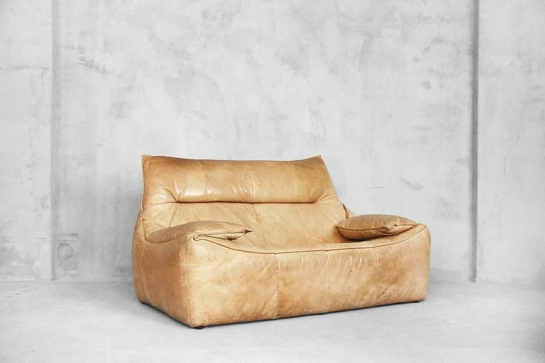 Dutch Leather the Rock Sofa by Gerard Van Den Berg for Montis, 1970s For Sale