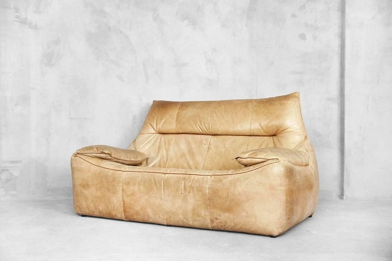 Leather the Rock Sofa by Gerard Van Den Berg for Montis, 1970s For Sale 1