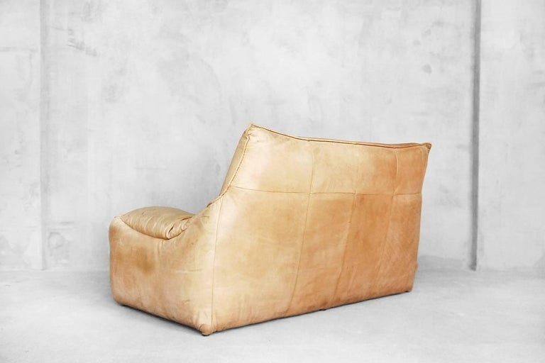 Leather the Rock Sofa by Gerard Van Den Berg for Montis, 1970s For Sale 3