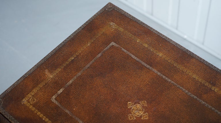 Leather Theodore Alexander Faux Scholars Books Large Side