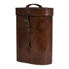 Leather Thermos Case, circa 1920