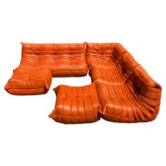 Leather Togo Sectional Sofa by Michel Ducaroy for Ligne Roset, France