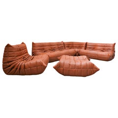 "Leather ""Togo"" Sofa by Michel Ducaroy for Ligne Roset"