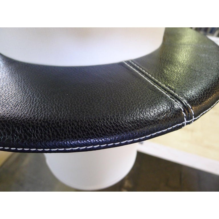 American Leather Top-Stitched Pendant by Paul Marra For Sale