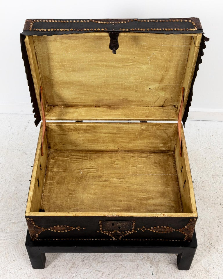 Spanish Leather Trunk For Sale