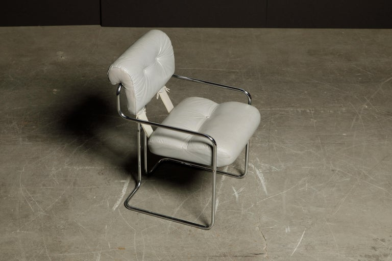 Leather 'Tucroma' Armchair by Guido Faleschini for i4 Mariani, 1970s, Signed For Sale 4