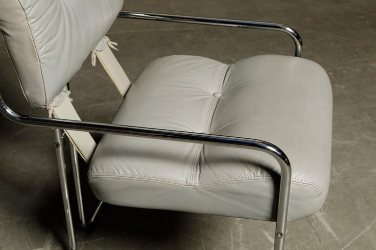 Leather 'Tucroma' Armchair by Guido Faleschini for i4 Mariani, 1970s, Signed For Sale 6