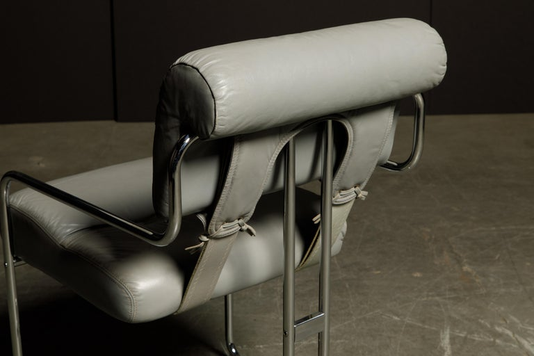 Leather 'Tucroma' Armchair by Guido Faleschini for i4 Mariani, 1970s, Signed For Sale 9