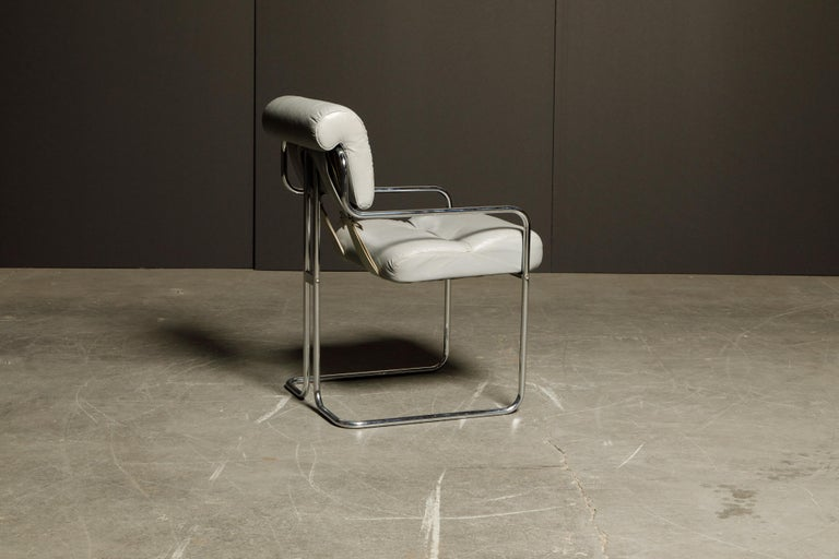 Leather 'Tucroma' Armchair by Guido Faleschini for i4 Mariani, 1970s, Signed For Sale 1