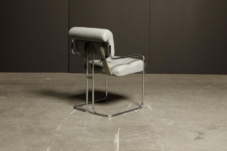 Leather 'Tucroma' Armchair by Guido Faleschini for i4 Mariani, 1970s, Signed For Sale 2